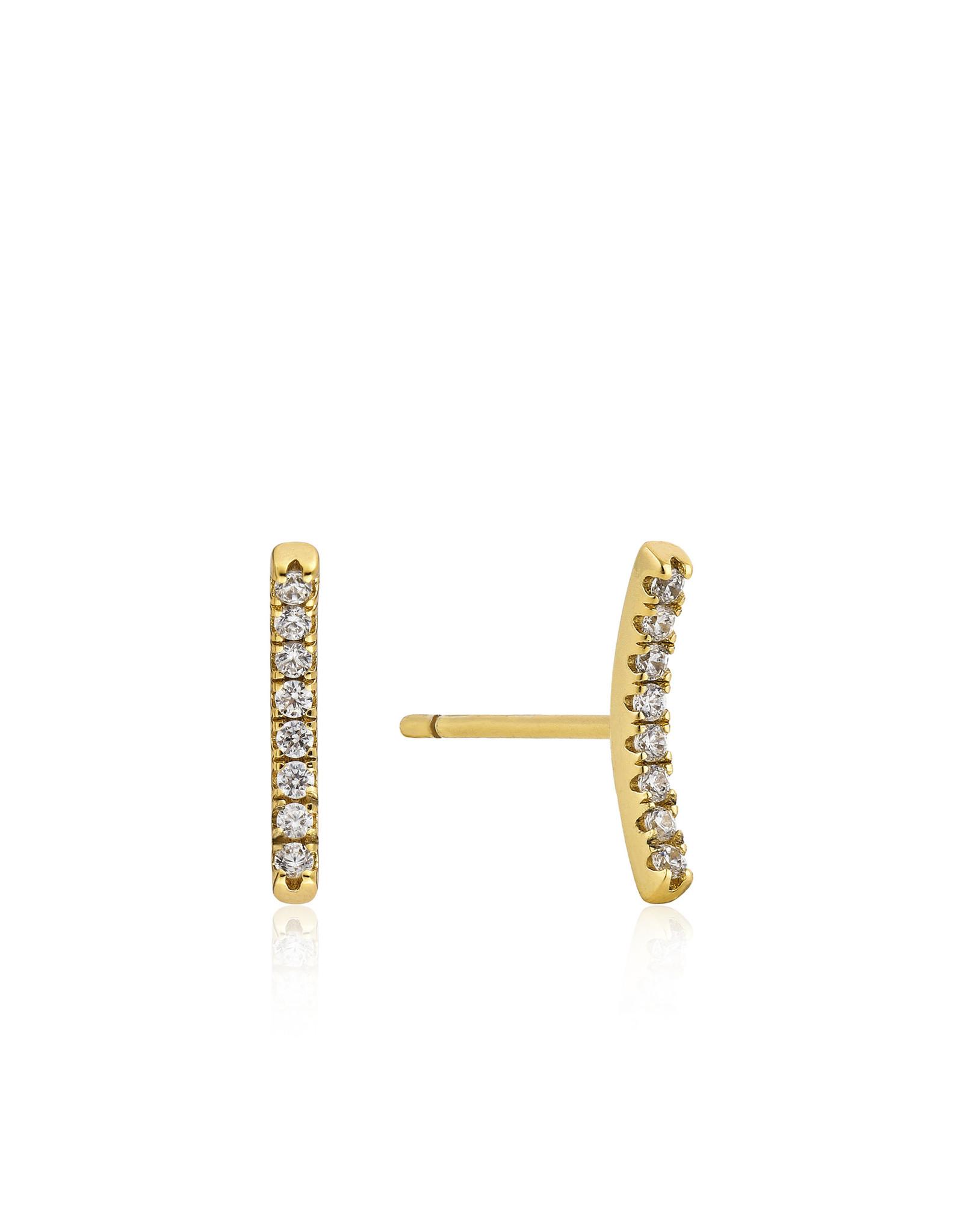 Ania Haie Shimmer Pavé Bar Stud Earrings