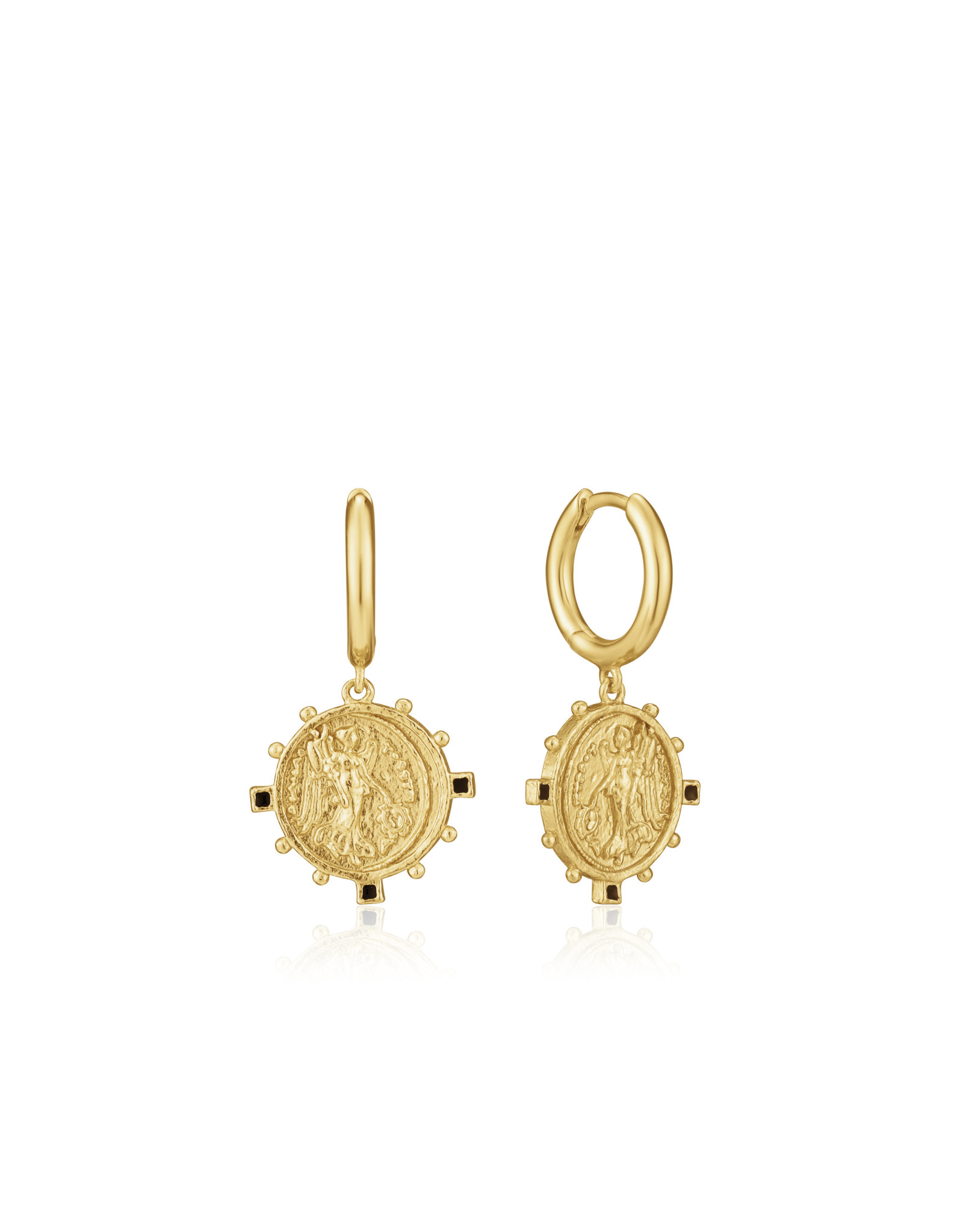 "Ania Haie VICTORY GODDESS MINI HOOP EARRINGS ""Lyndsay"" Gold"