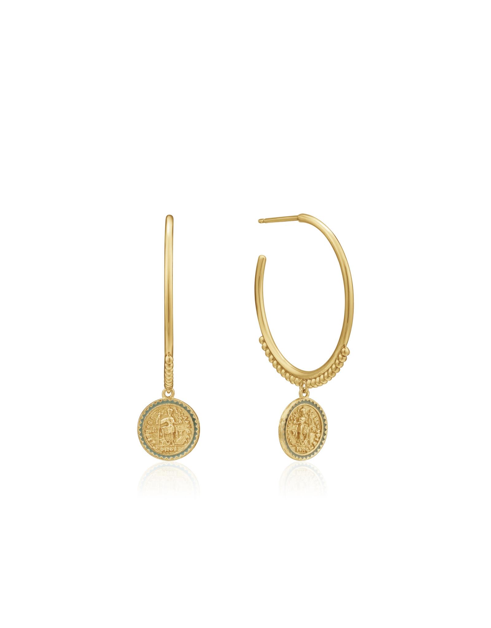 """Ania Haie EMPEROR HOOP EARRINGS """"Victoria"""" Gold"""