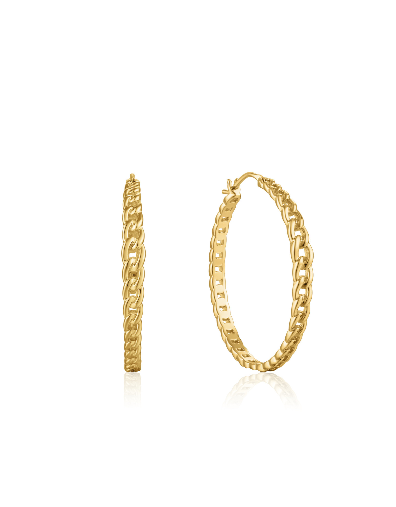 "Ania Haie CURB CHAIN HOOP EARRINGS ""Riley"""