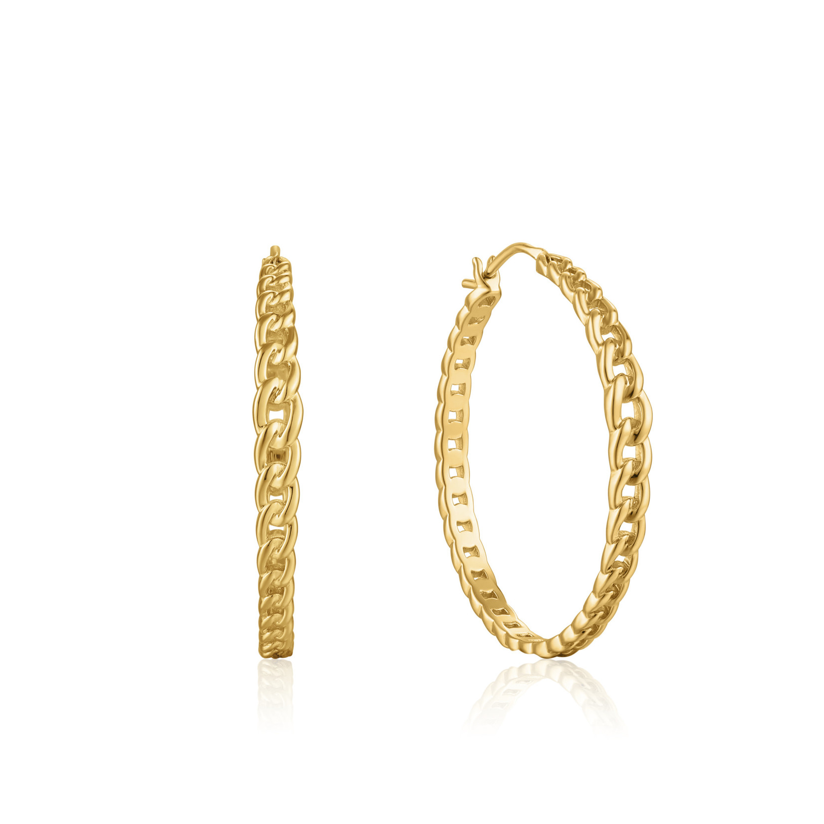 Ania Haie Curb Chain Hoop Earrings
