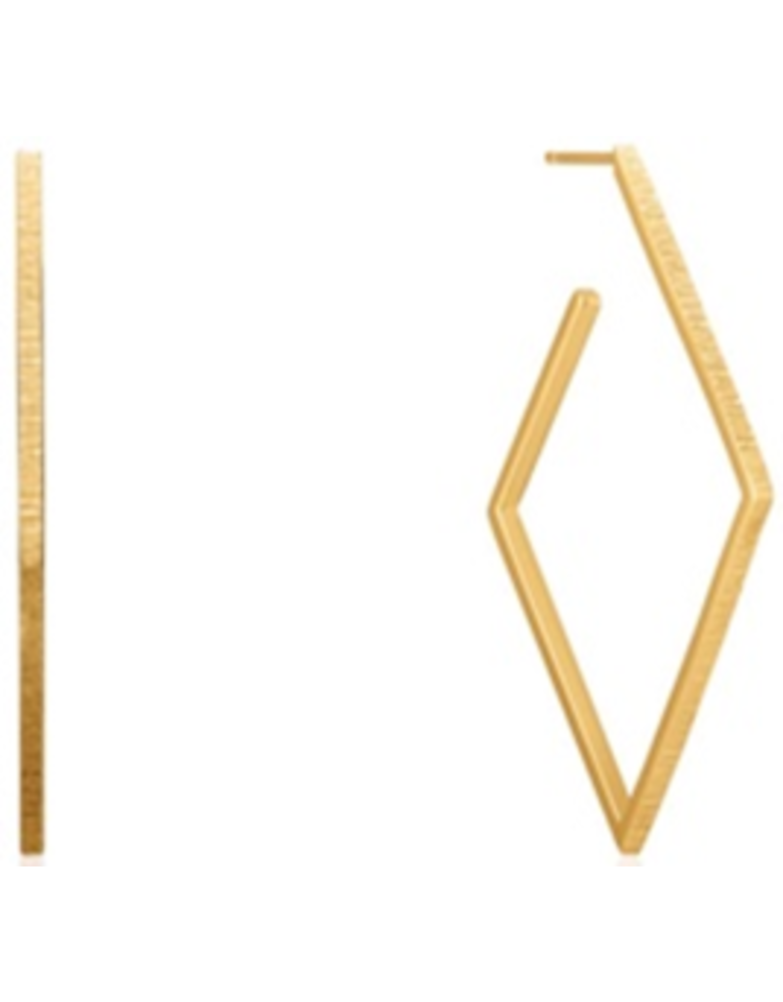 "Ania Haie TEXTURE DIAMOND HOOP EARRINGS ""Gail"""