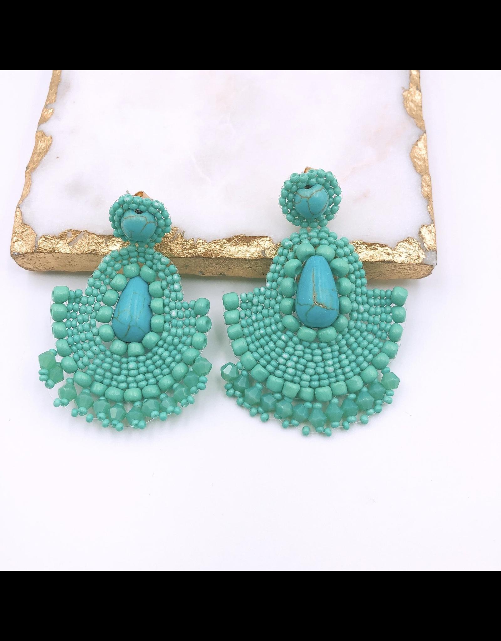 Treasure Jewels Earrings Maya Turquoise