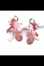 Treasure Jewels Earring Caballo de Mar Pink