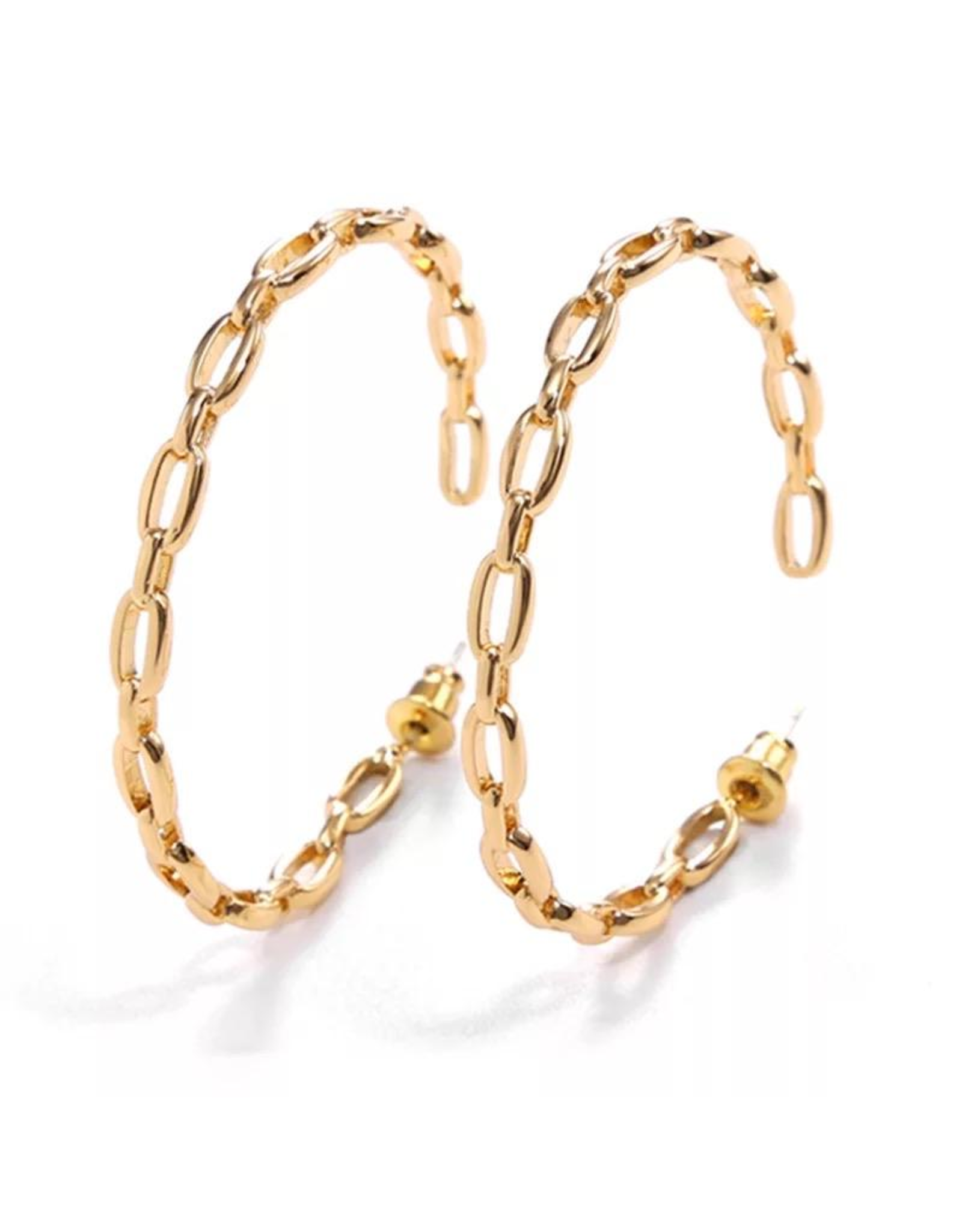 Treasure Jewels Earring Chain Hoop