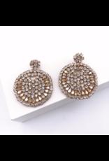 Treasure Jewels Beaded Crystal Round Earring