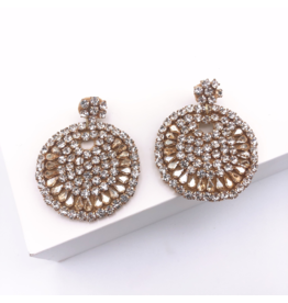 Treasure Jewels Beaded Crystal Round Earring