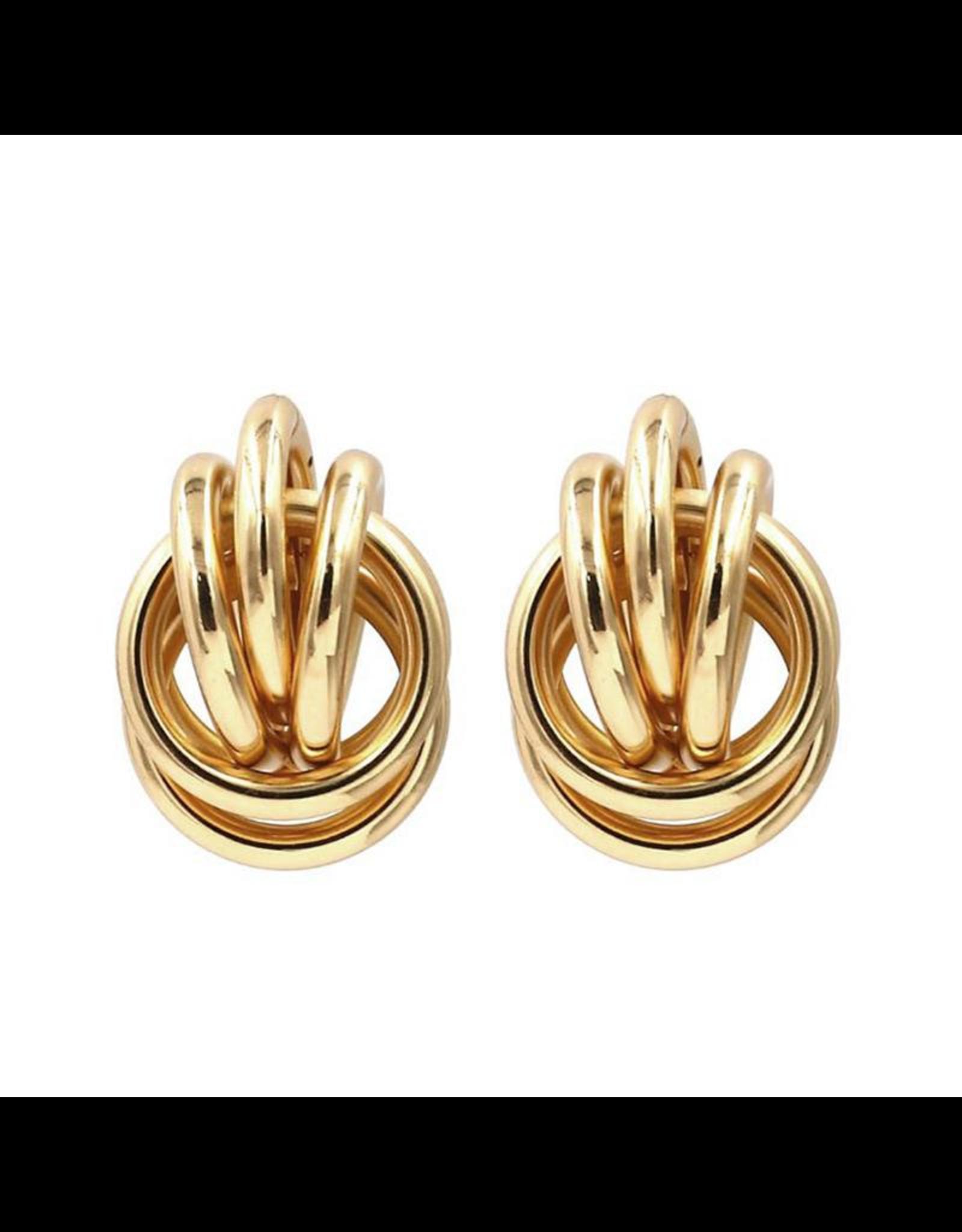 Treasure Jewels Knots Stud Earring