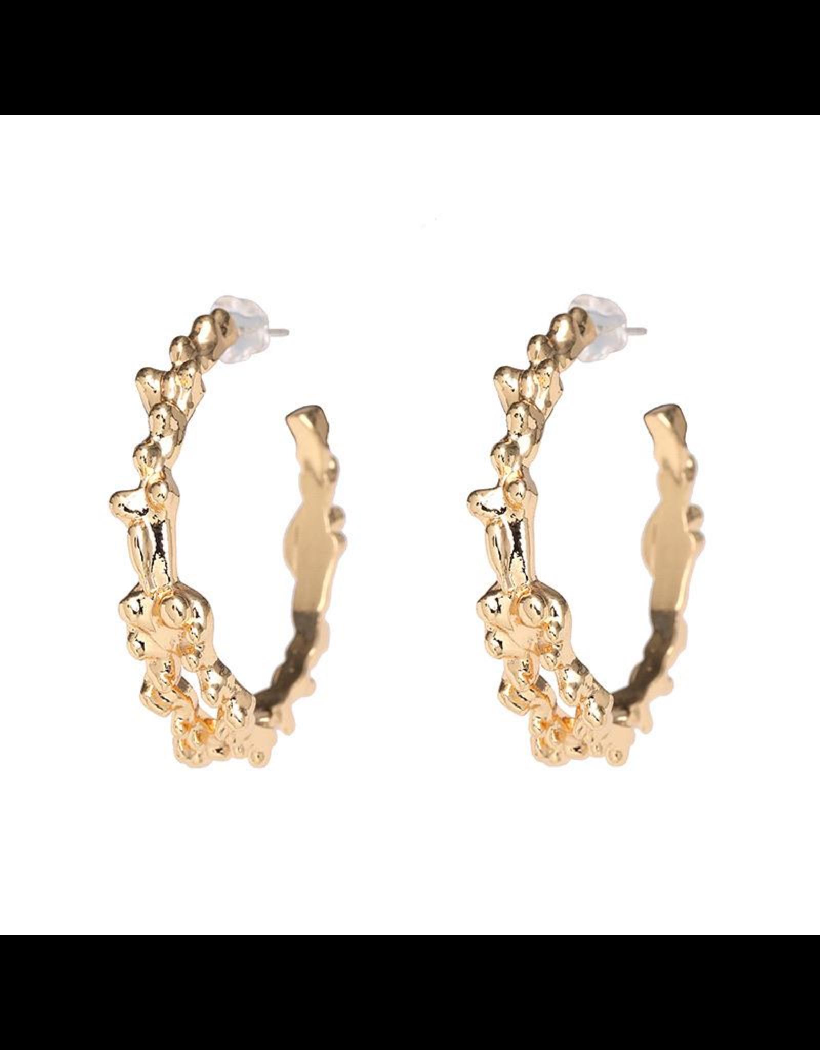 Treasure Jewels Spike Hoop Earring