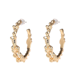 Treasure Jewels Spike Hoop Earring