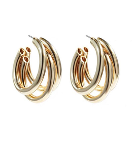 Treasure Jewels Triple Little Hoop Earring