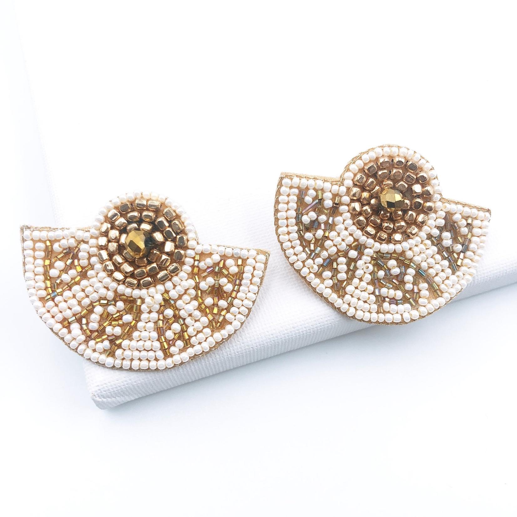 Treasure Jewels Aztec White Earring