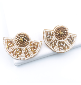 Treasure Jewels Aztec White Earring