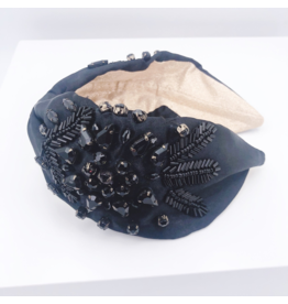 Treasure Jewels Chic Crystal Black Headband