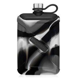 Brumate Liquor Canteen 8 oz Gray Camo Swirl Matte Black