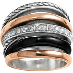 Brighton Neptune's Rings Black Ring Size 9