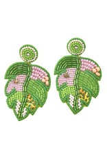 Treasure Jewels Palm Leaf Earrings