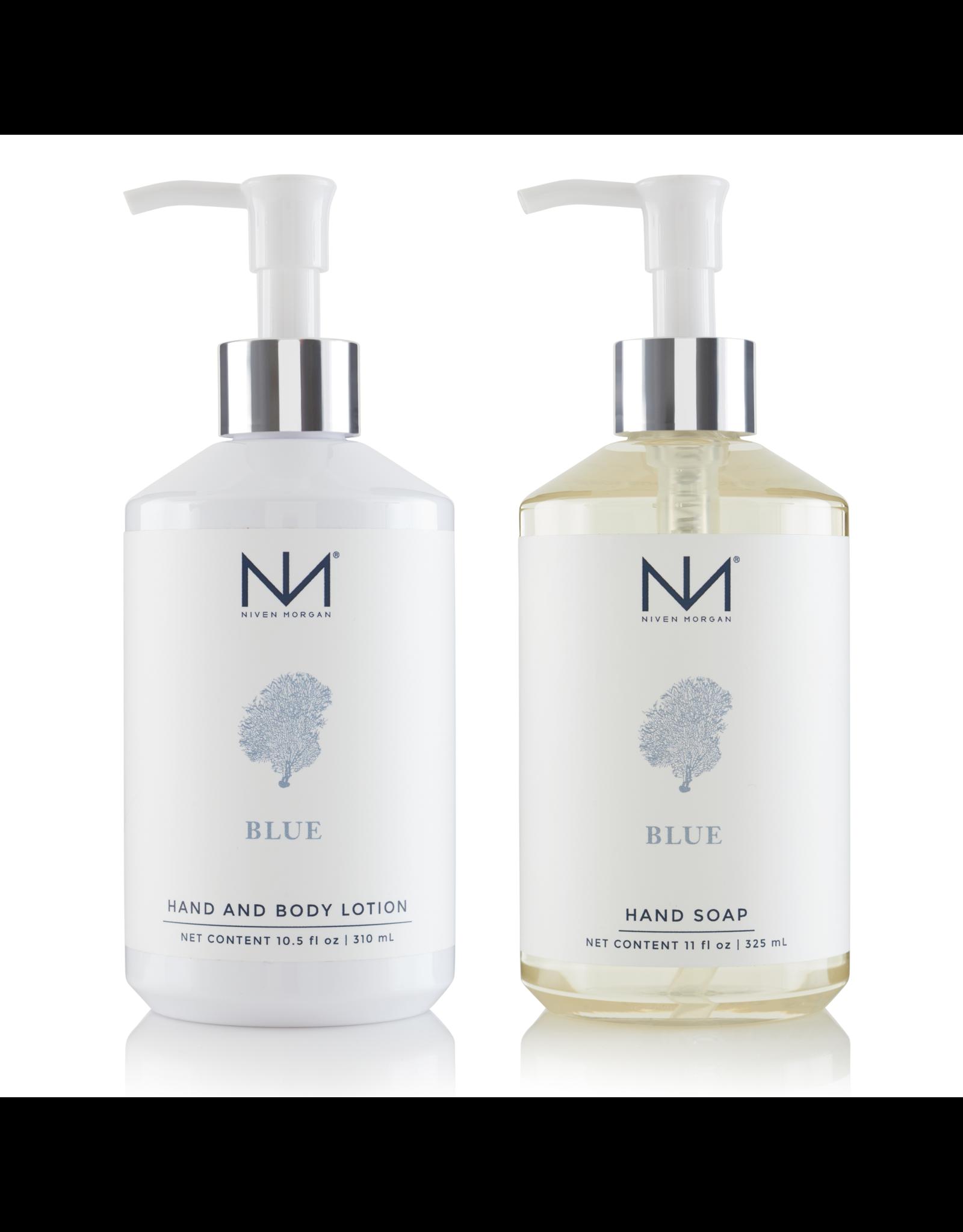 Niven Morgan Niven Morgan Blue Hand Set Lotion & Soap