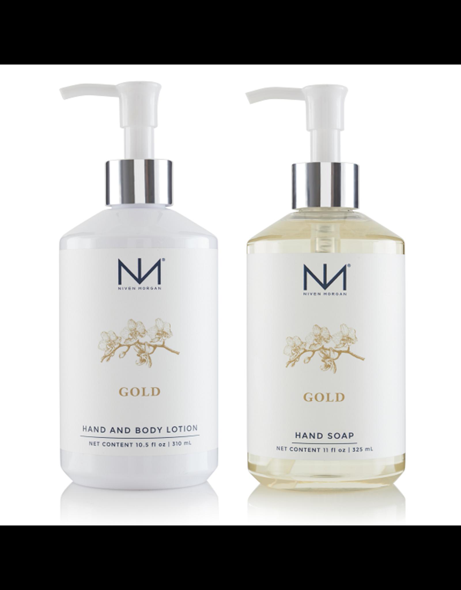 Niven Morgan Niven Morgan Gold Hand Set Lotion & Soap