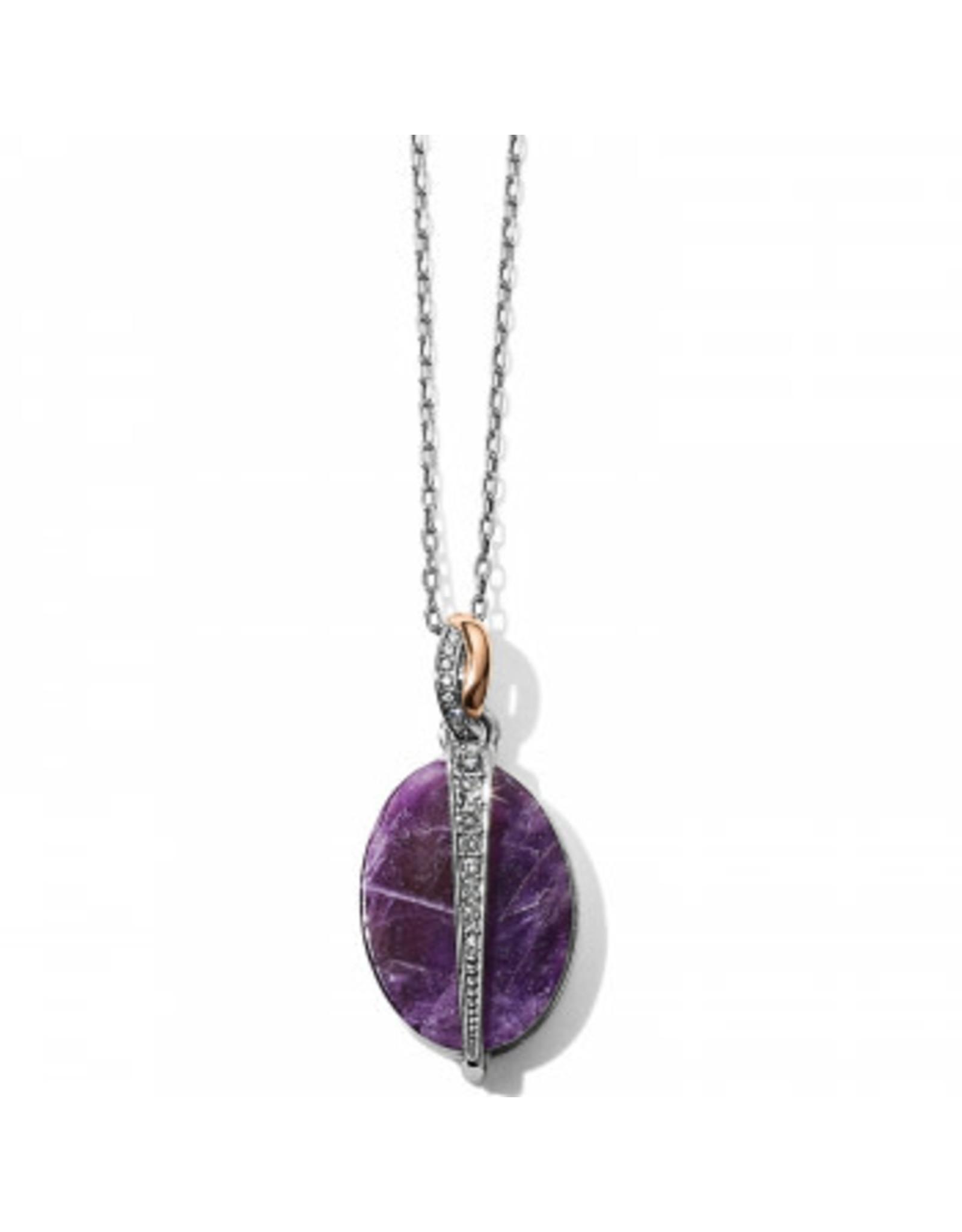 Brighton Neptunes Rings Reversible Amethyst Oval Short Necklace