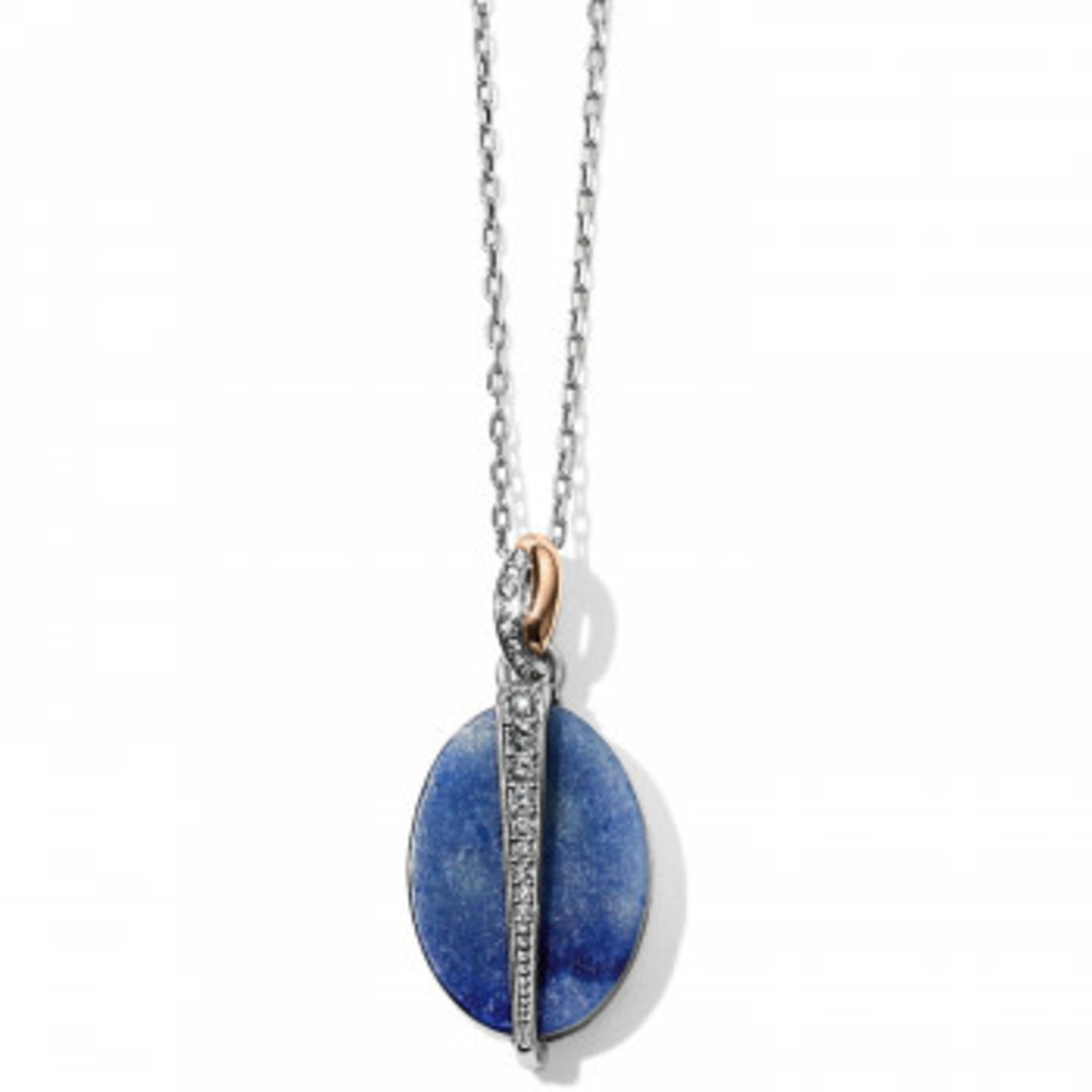 Brighton Neptunes Rings Reversible Blue Oval Short Necklace