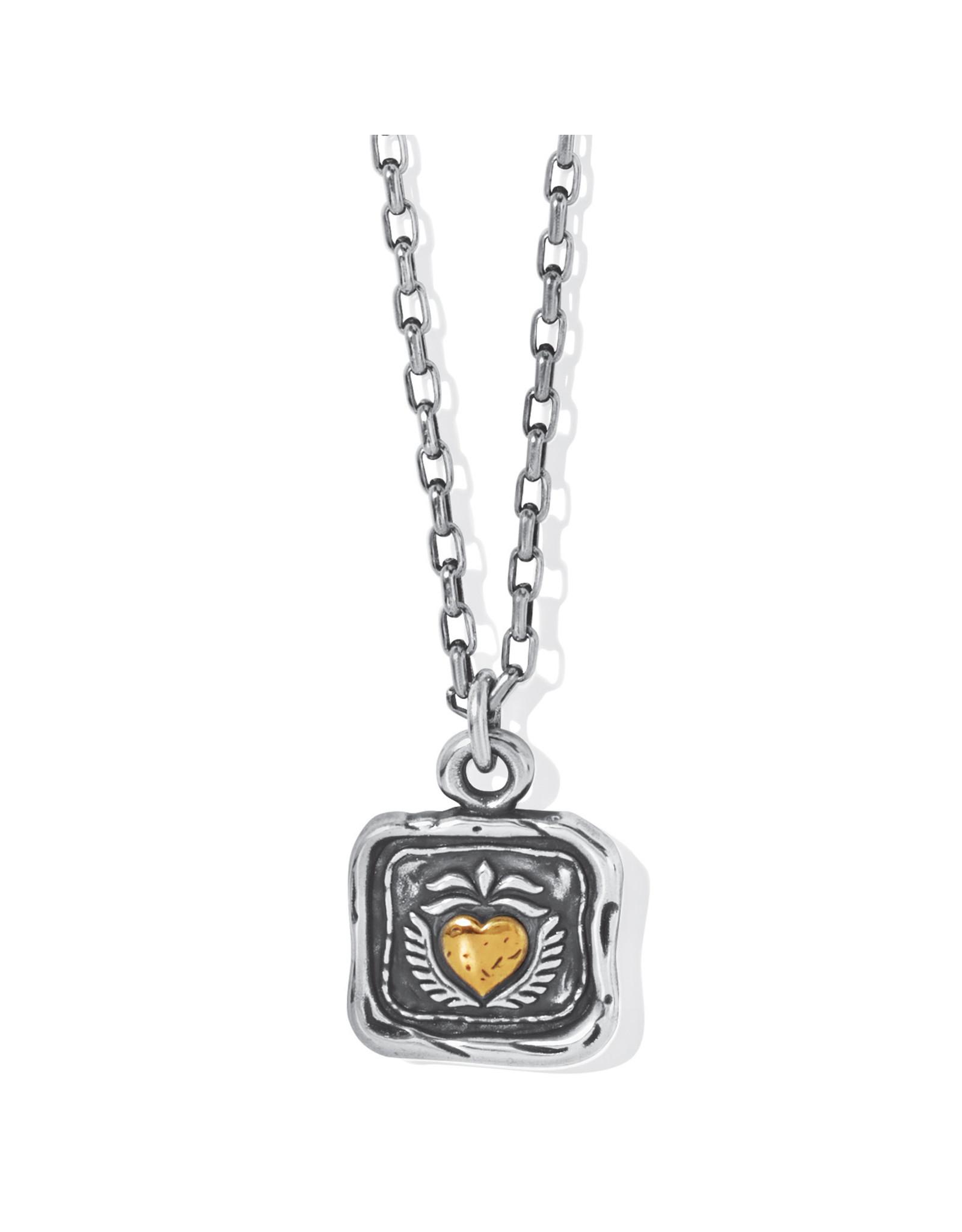 Brighton Ferrara Virtue Winged Hearted Pendant Necklace