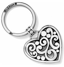 Brighton Contempo Heart Keyfob Silver