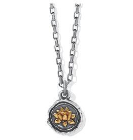 Brighton Ferrara Virtue Lotus Flower Pendant Necklace