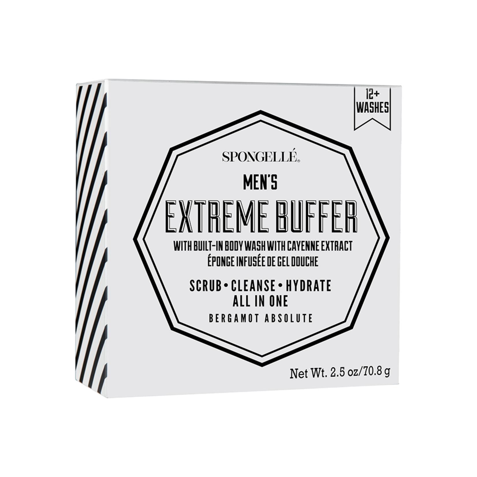 Spongelle Mens Super Buffer-Bergamot Absolute