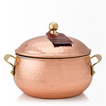 Thymes Simmering Cider 3 Wick Copper Pot