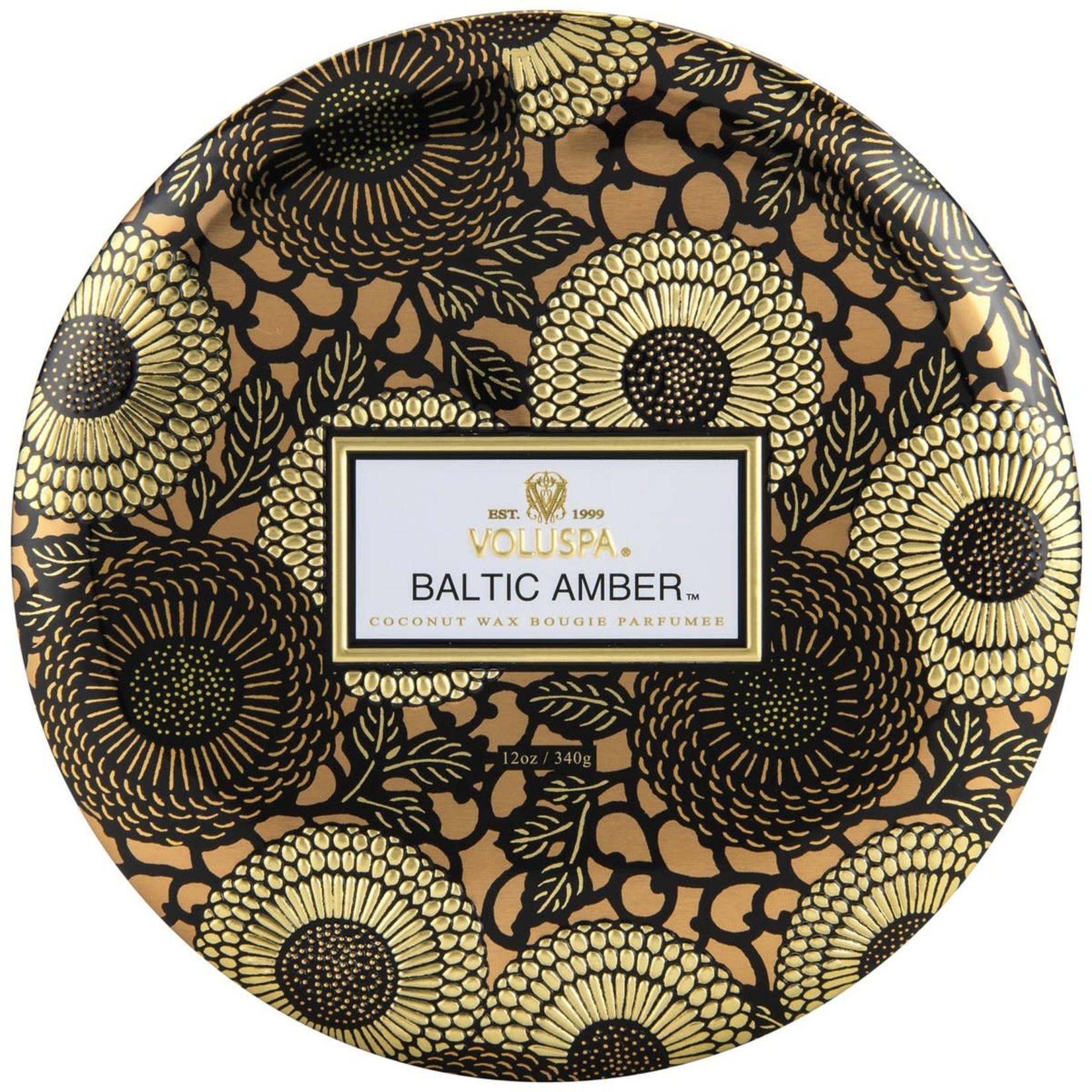 Voluspa Baltic Amber 3-Wick Tin Candle