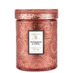 Voluspa Persimmon & Copal 5.5 oz Embossed Glass Jar Candle w/ Lid