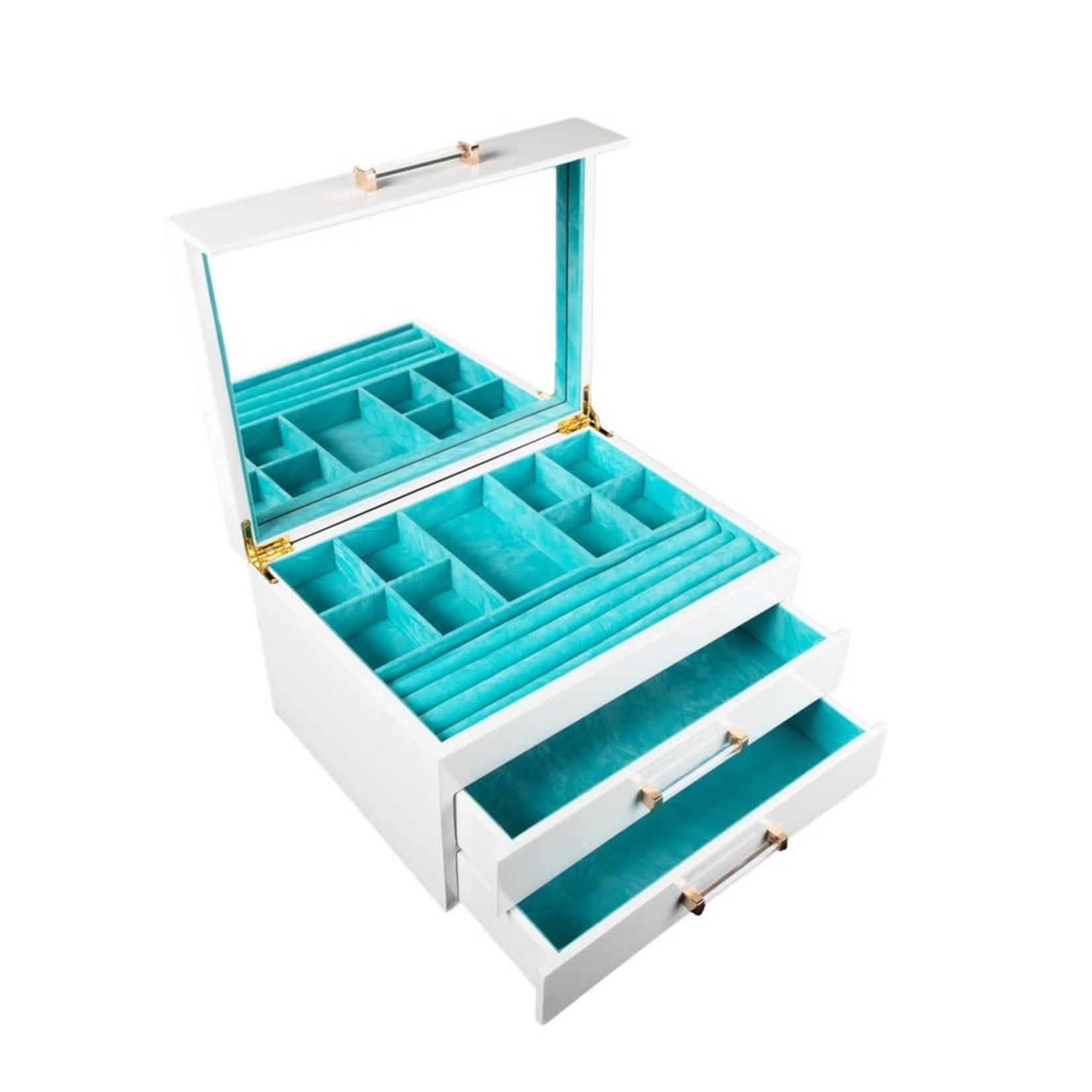 Brouk & Co Kendall Jewelry Box White