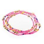 Caryn Lawn Malibu Wrap Bracelet Peach/Pink