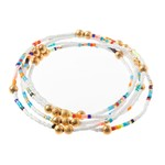 Caryn Lawn Malibu Wrap Bracelet White/Turqouise/Pink