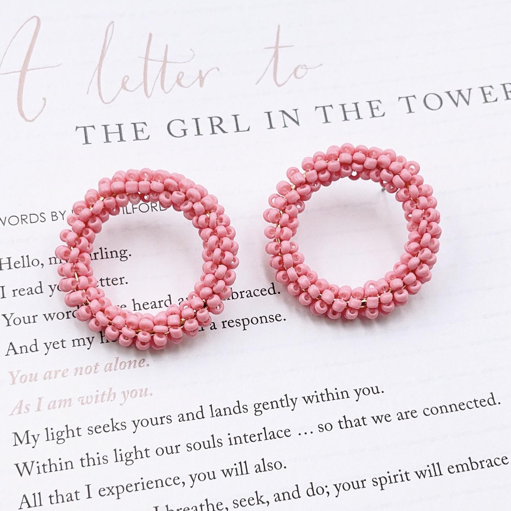 Treasure Jewels Camille Baby Pink Earrings