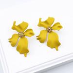 Treasure Jewels Yellow Flower Stud Earrings