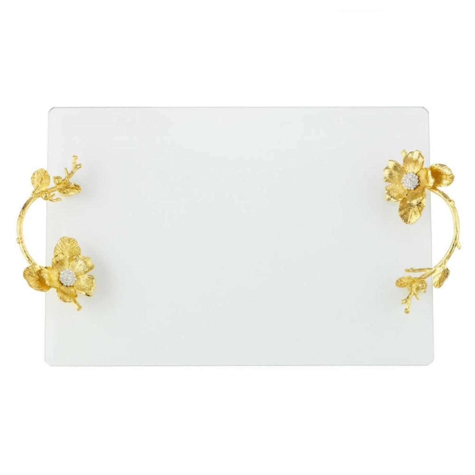 Olivia Riegel Gold Botanica Glass Tray