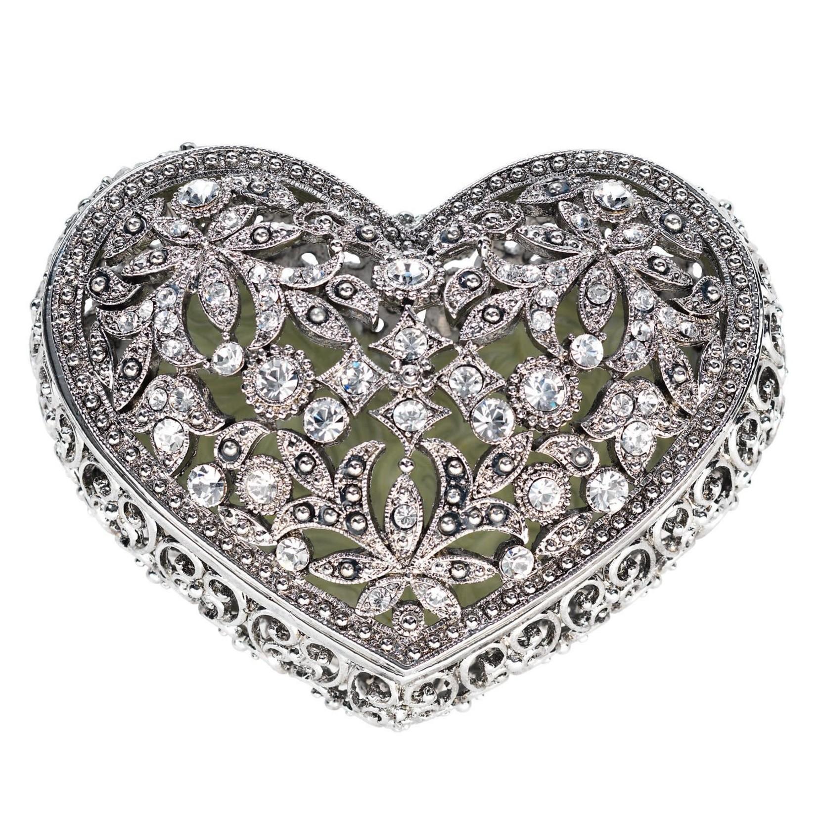 Olivia Riegel Luxembourg Heart Box Silver