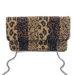 Beaded Clutch -  Cheetah Multi Striped