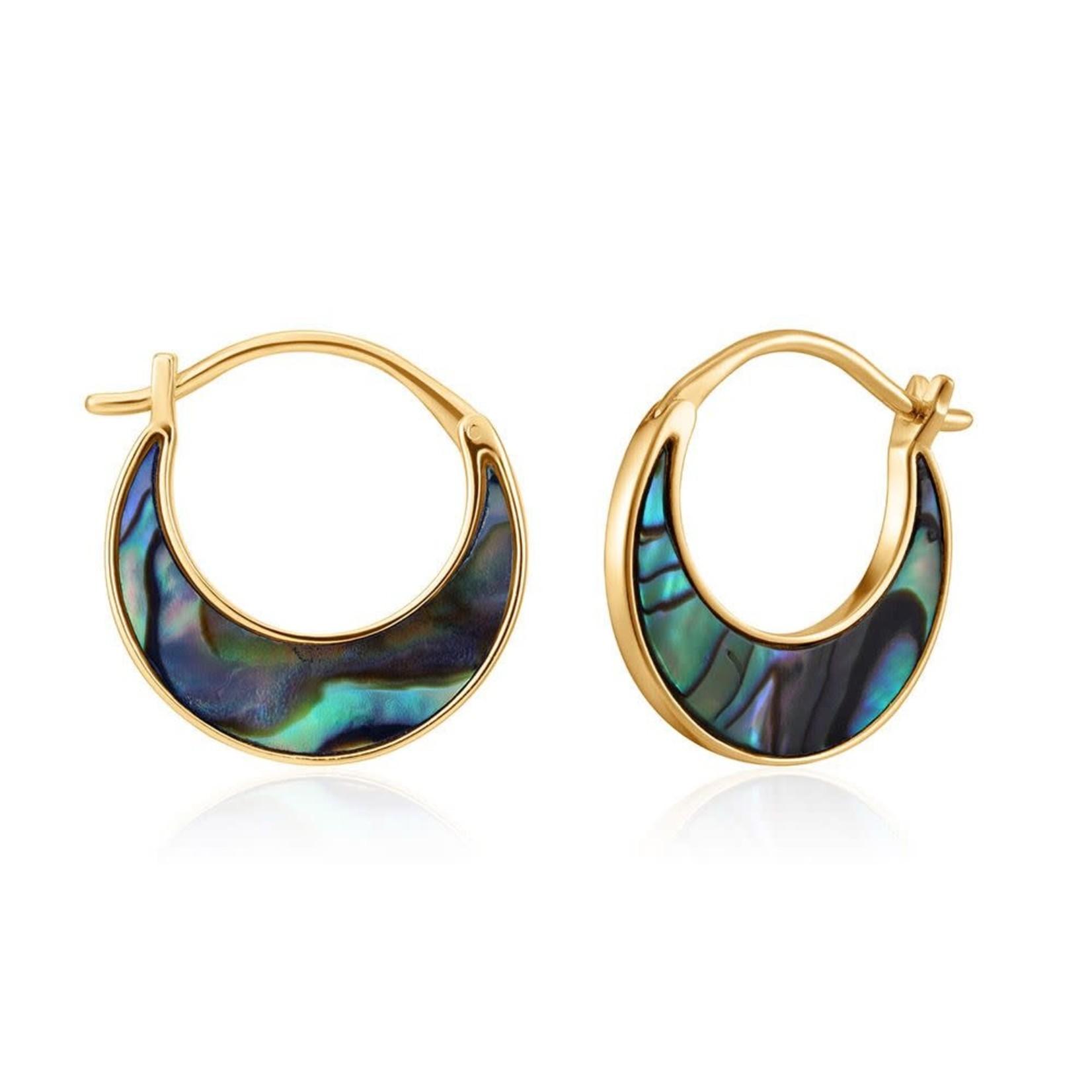 Ania Haie Tidal Abalone Crescent Earrings