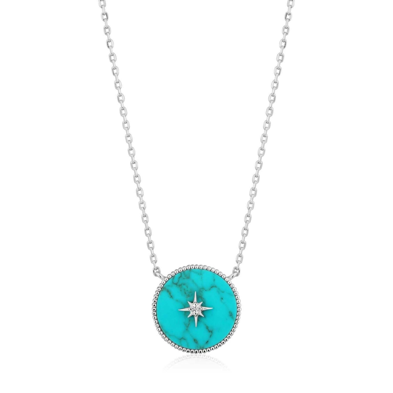 Ania Haie Turquoise Emblem Necklace