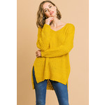 Umgee Long Sleeve V-Neck Soft Knit Sweater