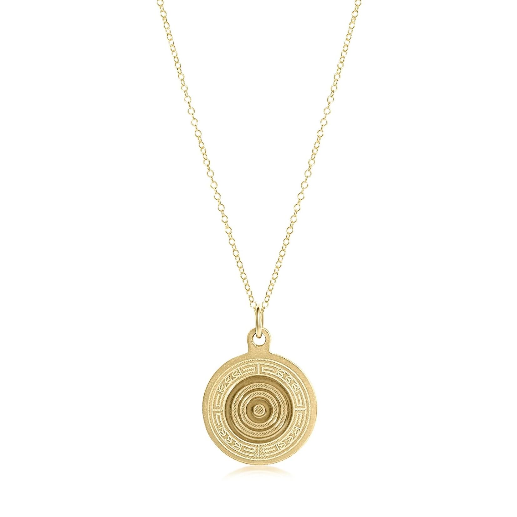 """Enewton Design 16"""" Neck Gold Athena Sm Gold Charm"""