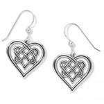 Brighton Interlok Crossing Hearts French Wire Earrings