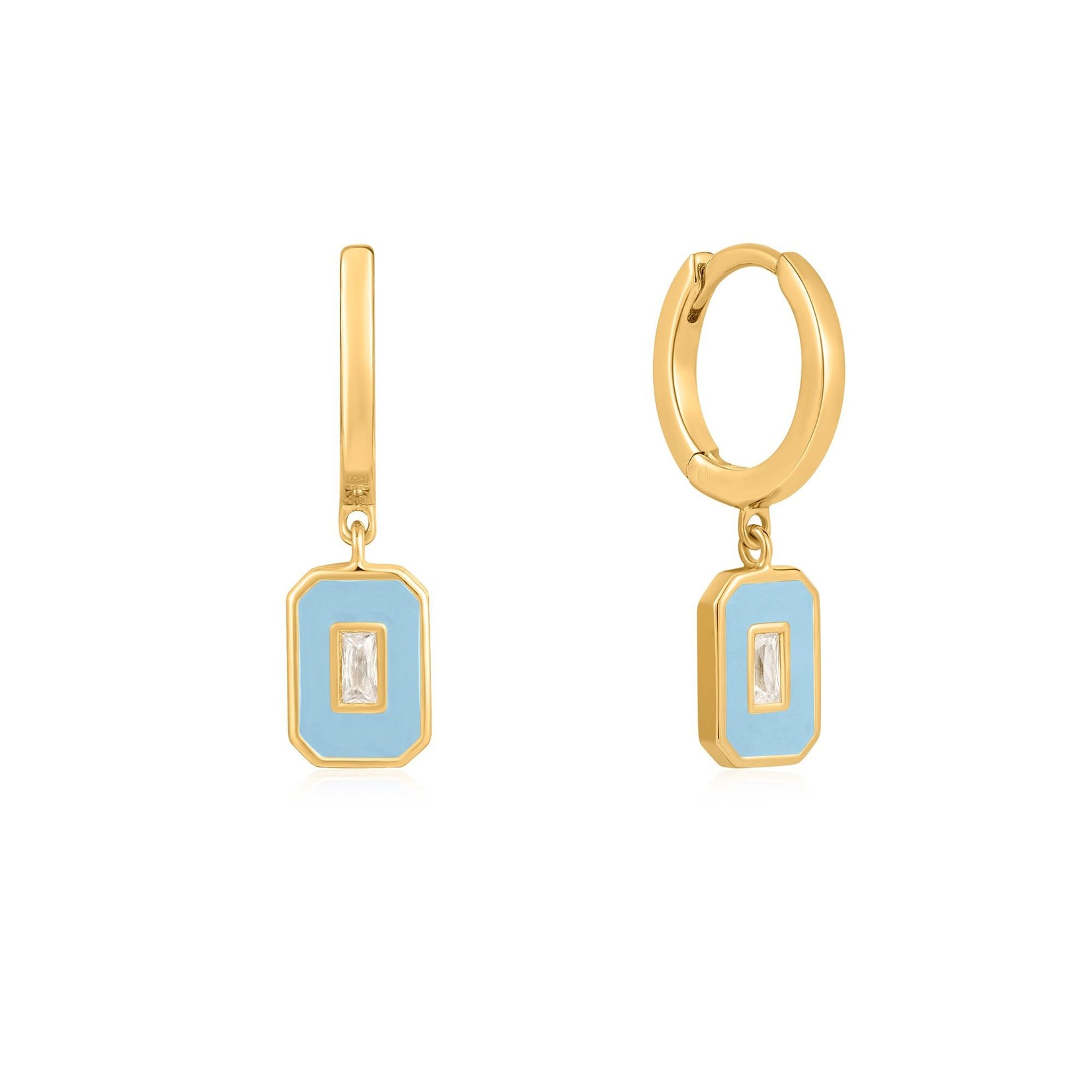 Ania Haie Powder Blue Emblem Earrings