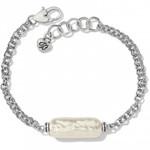 Brighton Pebble Pearl Double Link Bracelet