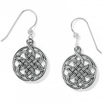 Brighton Interlok Medallion French Wire Earrings