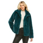 Faux Fur Everday Mink Jacket Teal