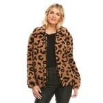 Faux Fur Teddy Bomber Leopard